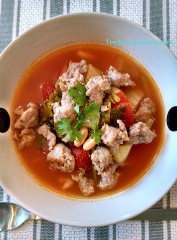 フェンネルと白インゲン豆のスープ
