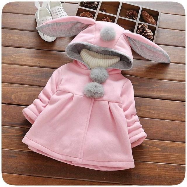 Cartoon Rabbit Ears Hooded Jacket