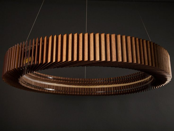LED English oak pendant lamp KOTKA by Cameron Design House design Ian Cameron