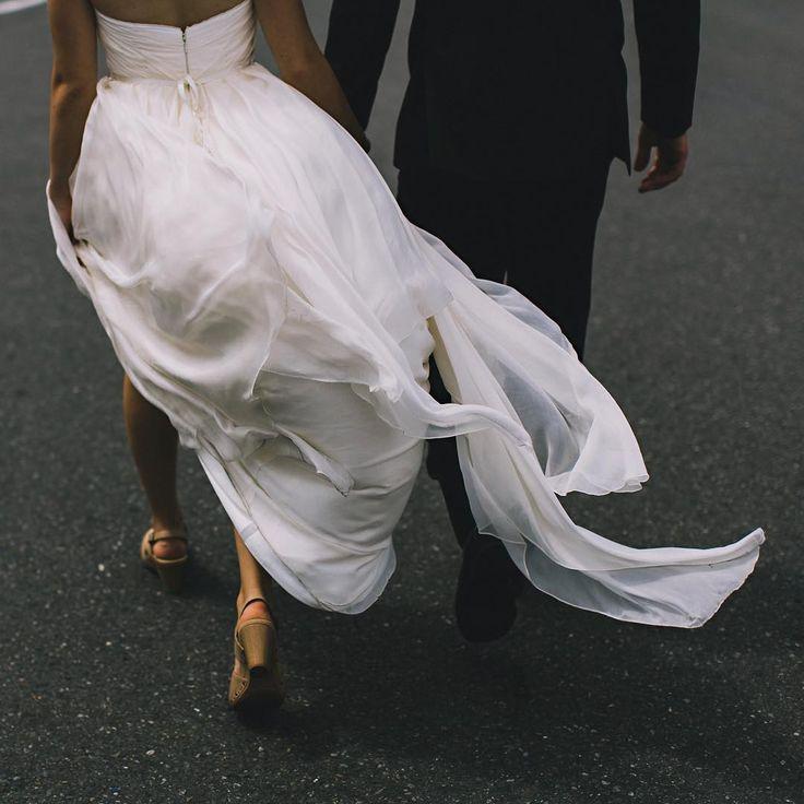 """Let the wind lead the way.  #weddingday #weddingdress"""