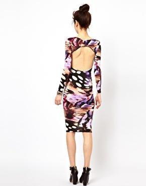 Oh My Love Animal Print Bodycon Midi Dress