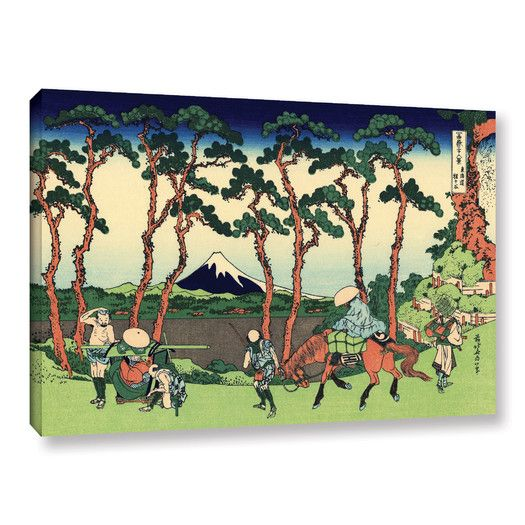 Found it at AllModern - Hodogaya on the Tokaido by Katsushika Hokusai Painting Print on Gallery Wrapped Canvas