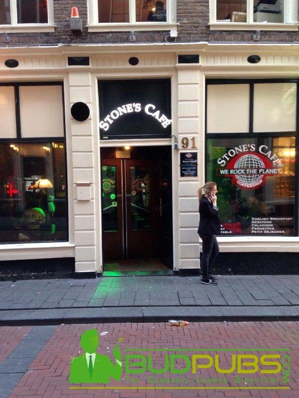 Stone's Café is one of the Best Weed Coffeeshops in Amsterdam! www.BudPubs.com #Amsterdam #Weed #Coffeeshops #Travel #Marijuana #Ganja #Maryjane #BudPubs