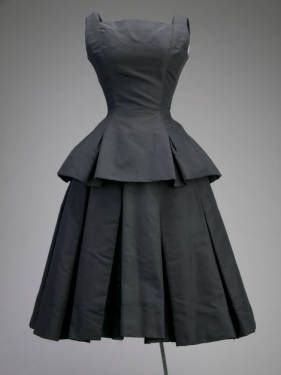 Cocktail dress, ca.1954. Silk faille. Christian Dior