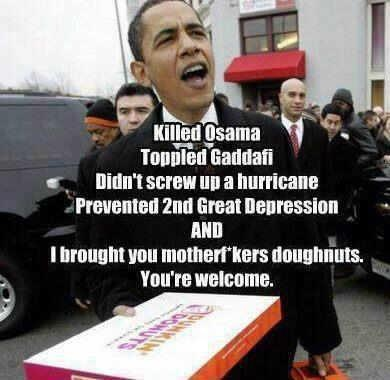 Obama!: Funny Shiznit, Bring Doughnut, Random Funny, Obama 2012, U.S. Presidents, Donuts, Funny Stuff, Politics Dreams, Photo