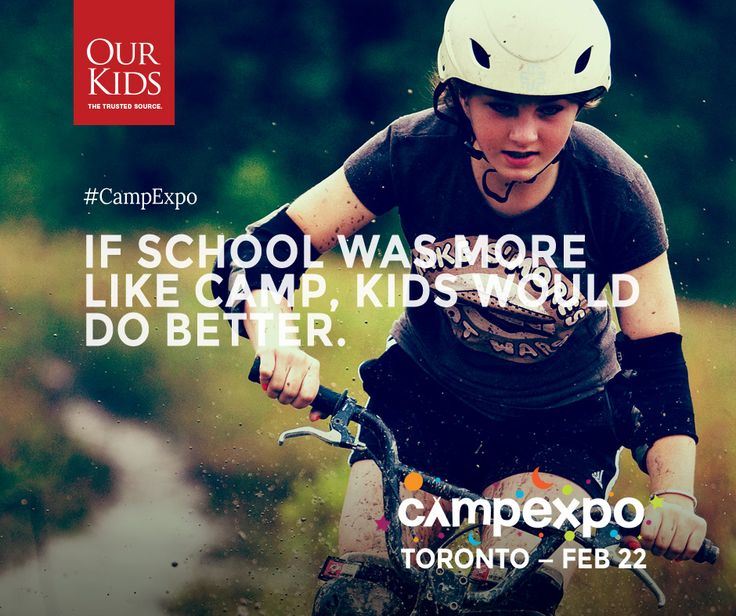 If school was more like camp, kids would do better. Meet with 50+ camps at the @ourkidsnet #CampExpo - Feb 22 www.campexpo.ca