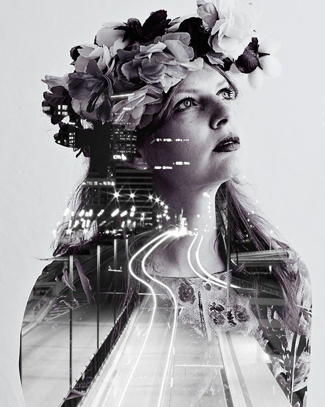 FEATURE DIY | Double Exposure Photography - Lana Red @Kayleigh Wiles Wiles Coriell great blending picture!
