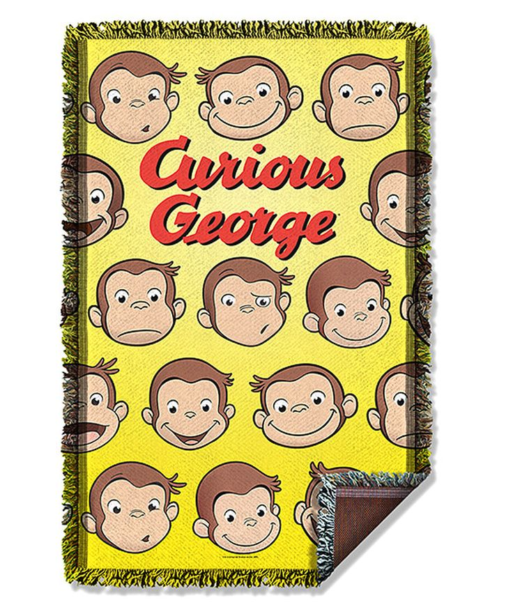 Loving this Curious George Heads Woven Throw on #zulily! #zulilyfinds