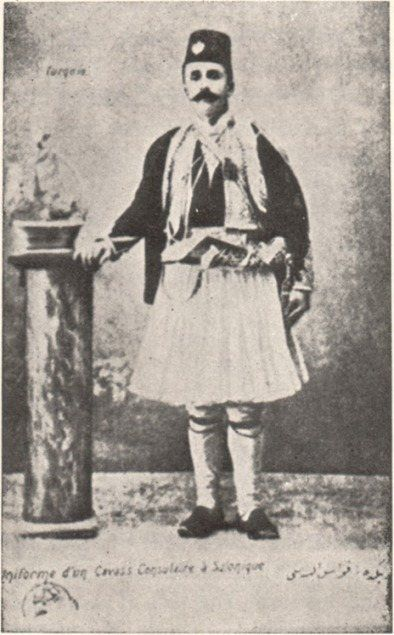 Uniform of a Kavas of the European consulates, around íhe end of the 19th century.