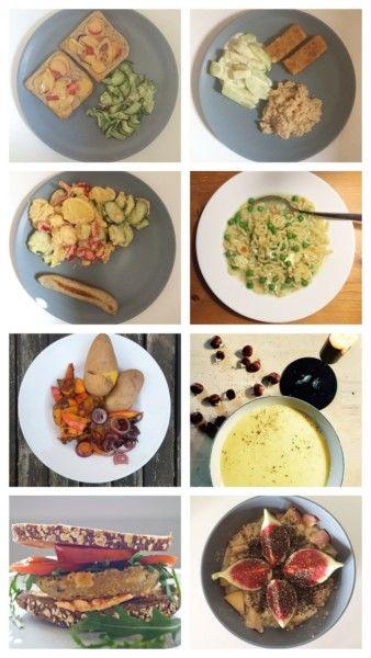 Vegetarischer Wochenplan im Herbst, mit Kindern kochen und essen, Familientisch, Familienessen, vegetarisch Essen, Kichererbsen, Kichererbsenschnitzel