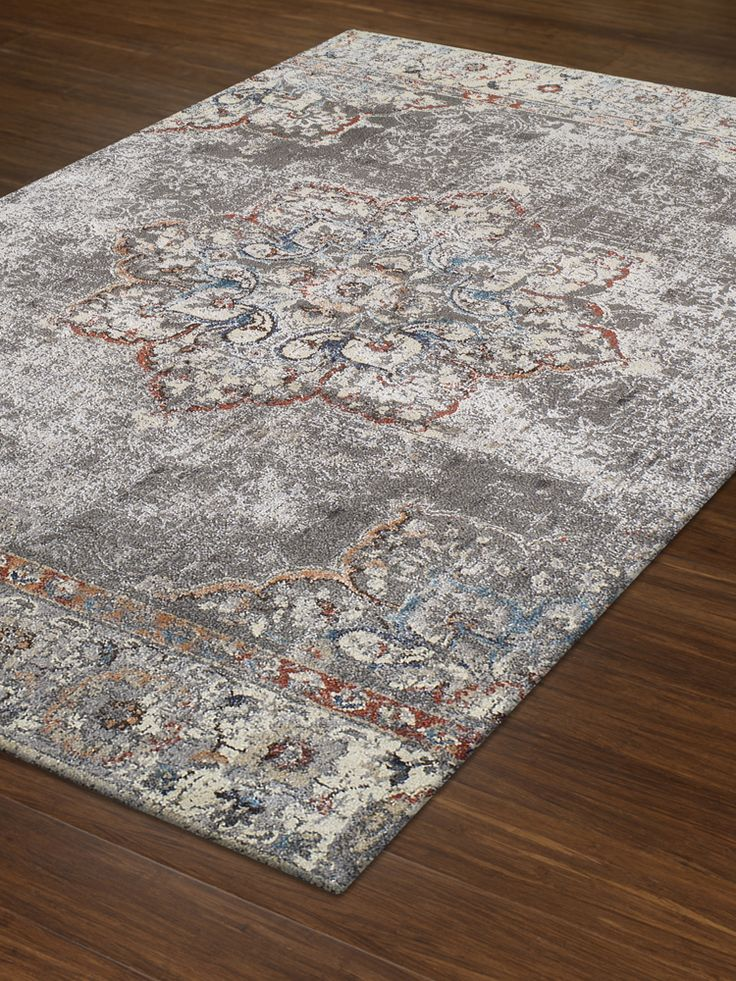 LaVita Pewter Polypropelene Yarn Woven Rugs  |Transitional Rugs | Traditional Rugs l Contemporay Rugs | Art Rugs | Abode & Company
