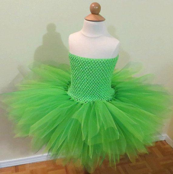 Tinkerbell Dress, Infant, toddler, Tinkerbell Costume, Dress Up Princess Party, Fairy Tutu Dress