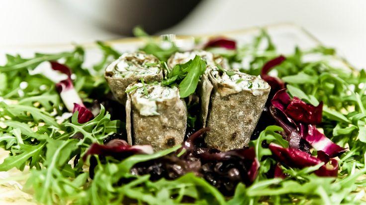 Foto Piadine vegane con tofu aromatizzato