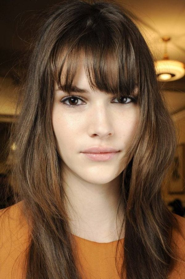 Hairstyles For Long Thin Hair Easy Ideas For Long Fine Hair Oblong Face Hairstyles Long Fine Hair Long Hair With Bangs
