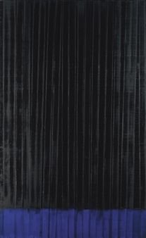 Pierre Soulages - Peinture 222 x 137cm., 31 janvier 1990.