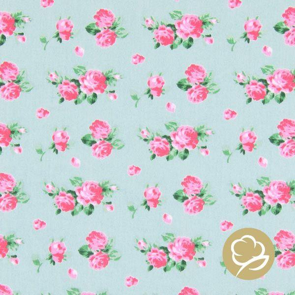 Tula Style – Roses Plain 4 - Bomull - mintgrön
