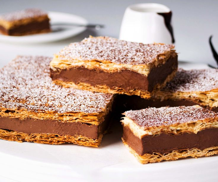 Chocolate Vanilla Slice | A classic with a fresh look and chocolatey decadence
