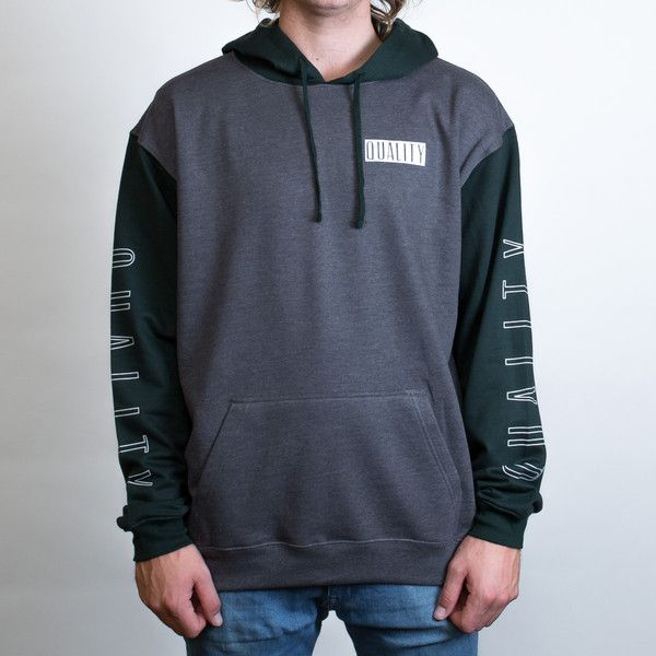 Aurora Contrast Hoodie Leavers Gear - The Print Room NZ - Bottle/Charcoal
