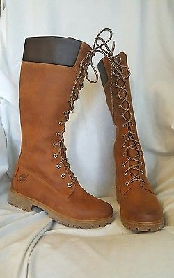 Timberland premium womens boots sz 9 W 14 inch brown leather waterproof NWOB SOLD