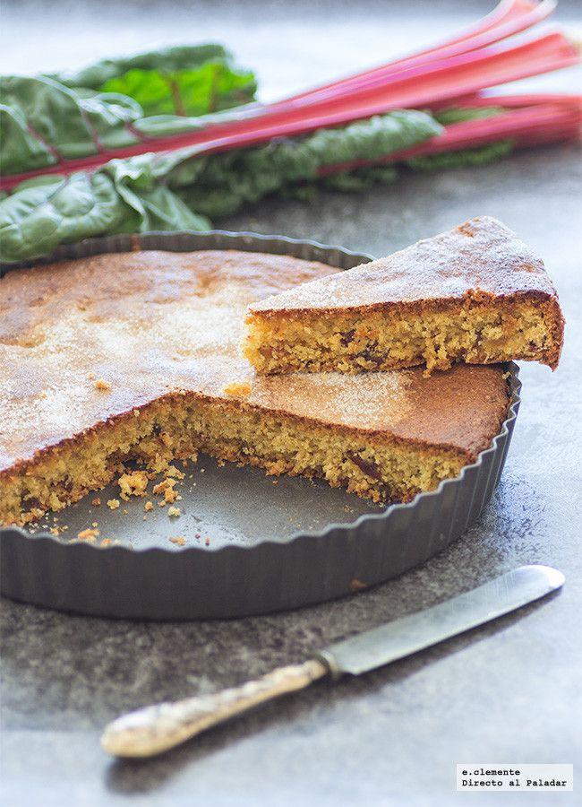 Torta francesa de almendra y ruibarbo. Receta sin gluten