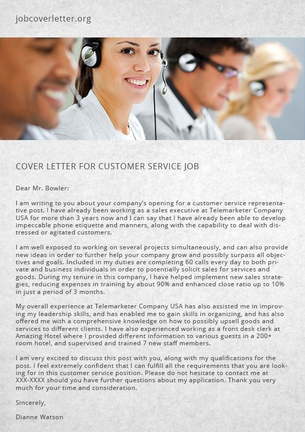 27 best job cover letter images on Pinterest Cover letters, Job - customer service cover letters
