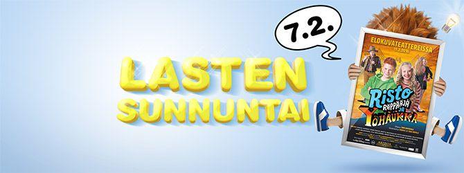 UUSIA KULTTUURI ELOKUVIA  Kaikenikäisille. Lasten Sunnuntai 7.2.2016 SUOSITTELEN Lämoimästi. ELOKUVATEATTERIT Finkino.fi
