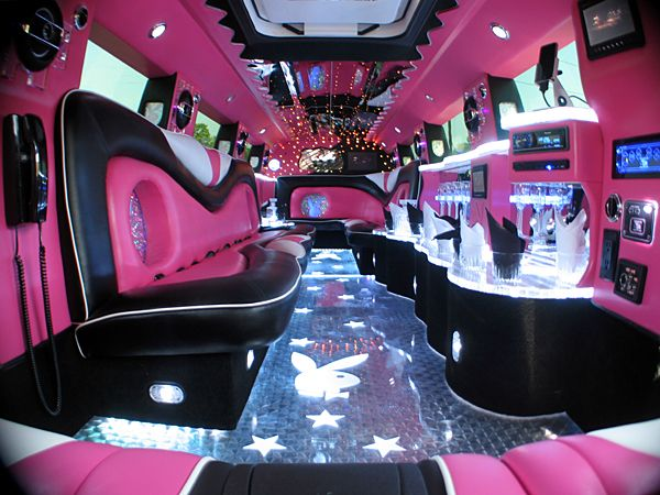 Pink Hummer Limo Inside. Amazing and Girly!!!! I want this so bad!