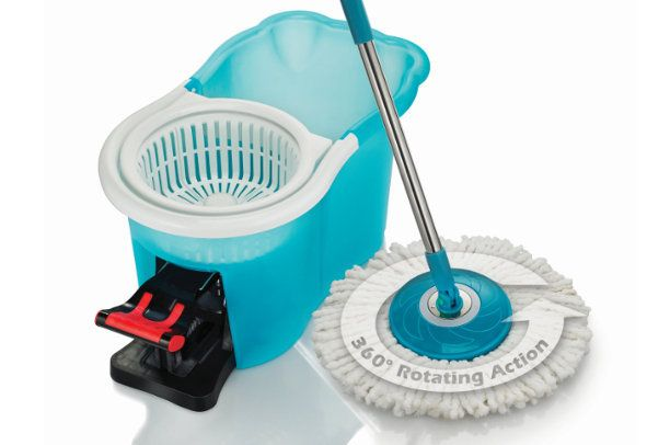 The Hurricane 360 Spin Mop is the only mop that swivels 360 degrees while mopping, allowing you to get to those hard to reach place by pivoting under furniture.