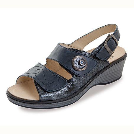 Sandalias de piel Noia Tira Azul