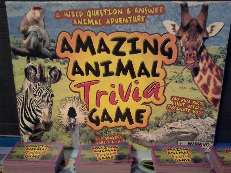 Amazing Animal Trivia Game 2-6 players Ages 6+ Wildlife Conservation Society