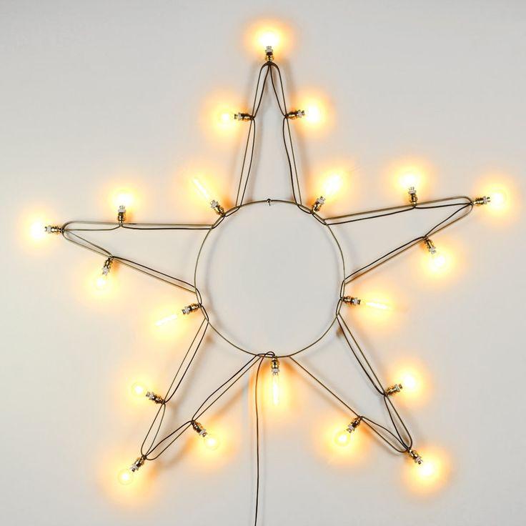 Etoile lumineuse Grand Modèle. Réédition d'une étoile de manège des années 60. Exclusivité F&V.