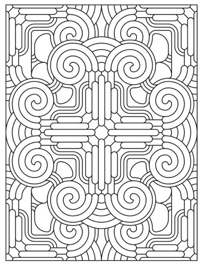 Mandala 624 Creative Haven Madness Coloring Book Dover Publications