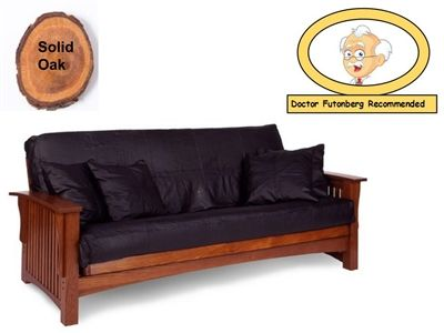 Premium Manhattan Solid Cherry Oak Futon Package