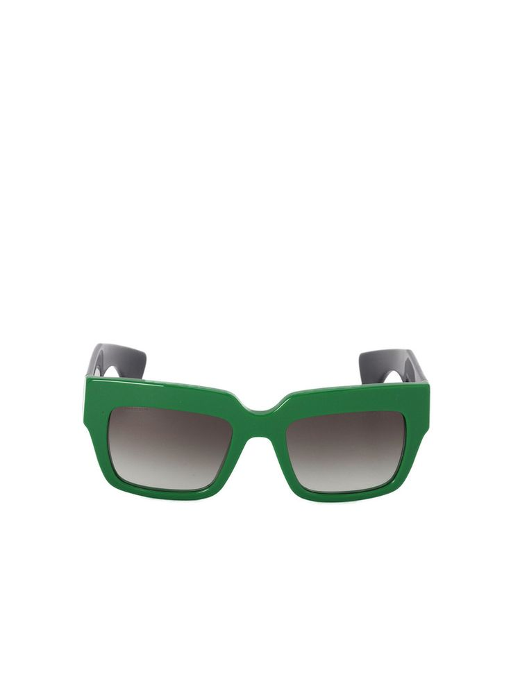 Prada Poeme Sunglasses - Green / Gray Gradient - #Sunnies #Sunglasses #Style #Fashion