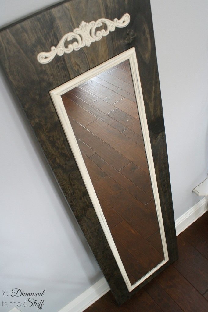 DIY Ideas | Mount a cheap full length mirror onto a wood board to make it look more expensive