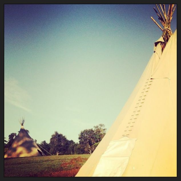 The Tipis are nearly ready!