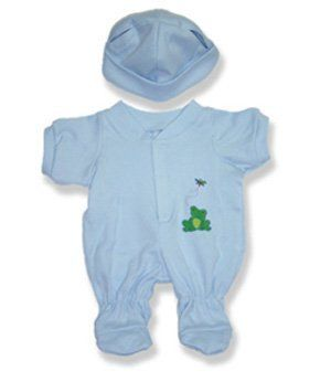 """Baby Boy Outfit Teddy Bear Clothes Fit 14"""" - 18"""" Build-a-bear, Vermont Teddy Bears, and Make Your Own Stuffed Animals by The Bear Mill, Inc. $12.99. The Bear Mill provides the largest variety of quality plush animals worldwide, and always offers excellent and high quality products."""