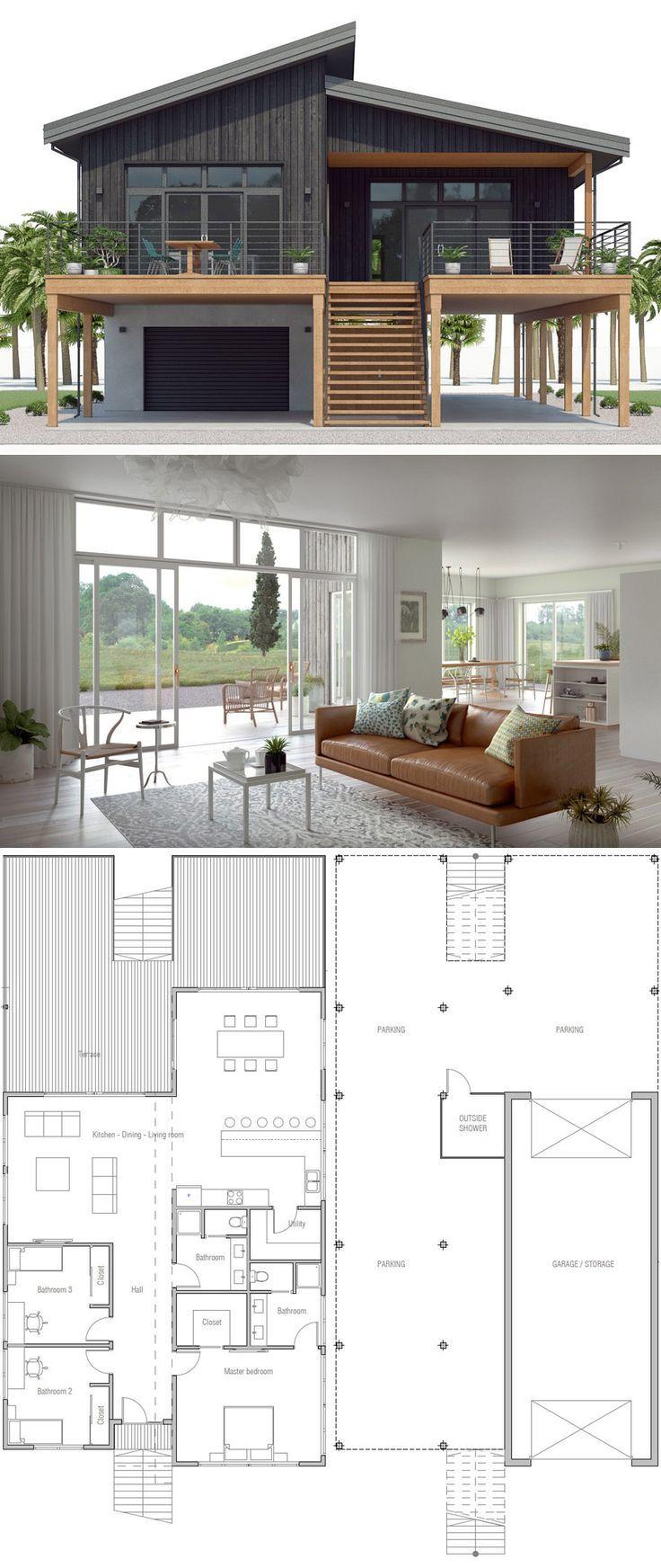 Karte Von Haus Hauser Haus Desgins Homedecor Housedesign Architecture Pl Architektur Coastal House Plans Modern Architecture House Beach House Plan