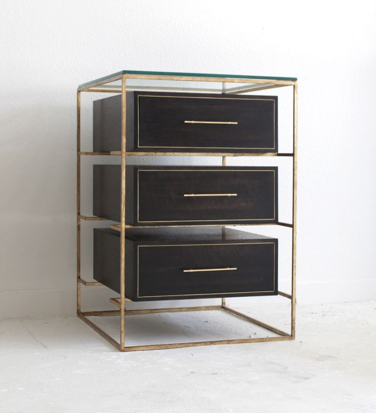 The ultimate glamorous, #artdeco, slick, bedside table! FLOATING DRAWER BEDSIDE TABLE by Codor Design.