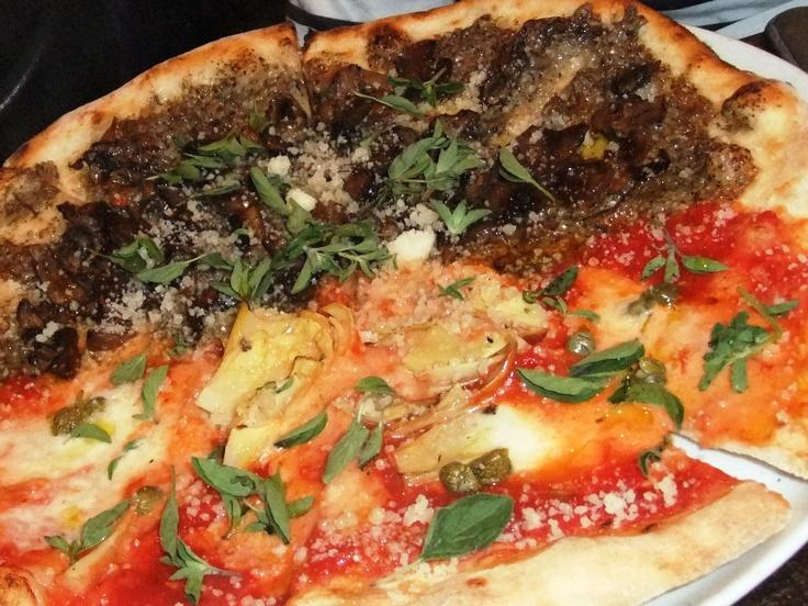 Half-Funghi, Half Terraferma Pizza @ Verace Pizzeria - Vancouver, BC
