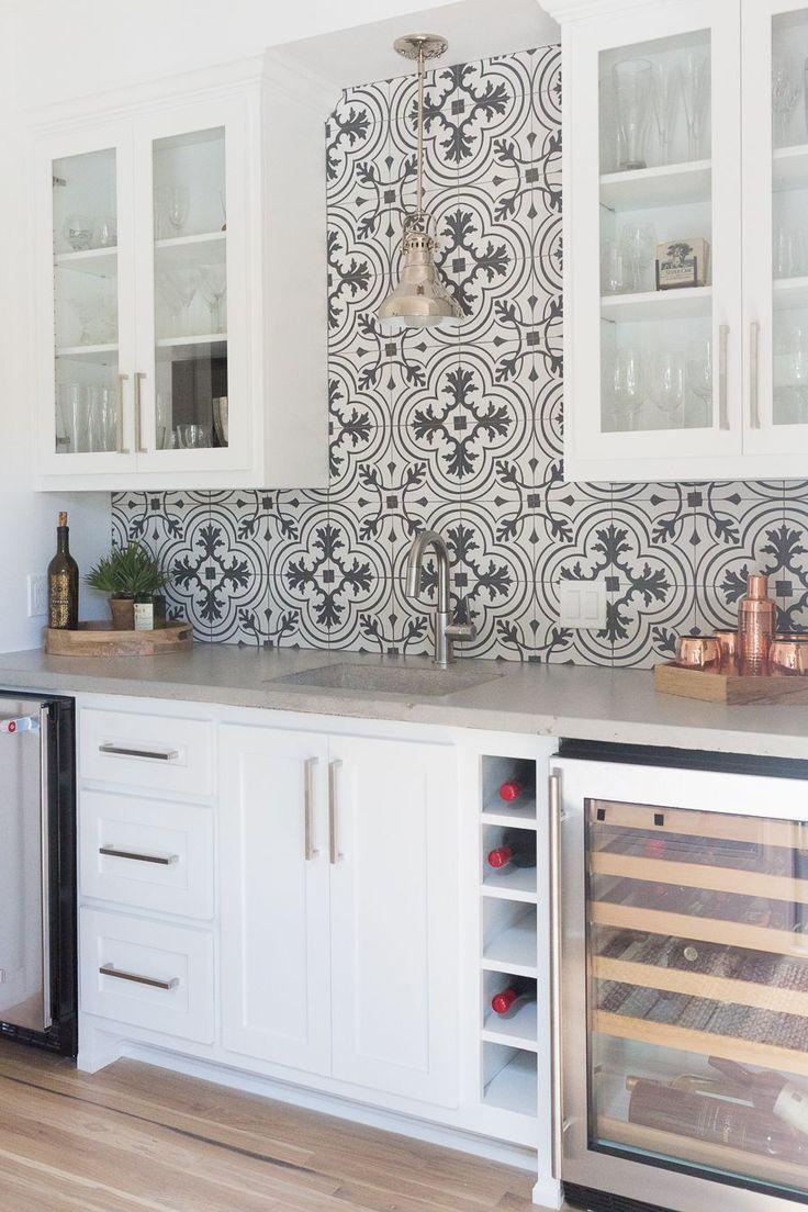 Affordable Ceramic Patterned Tile Backsplash And Flooring Cc And