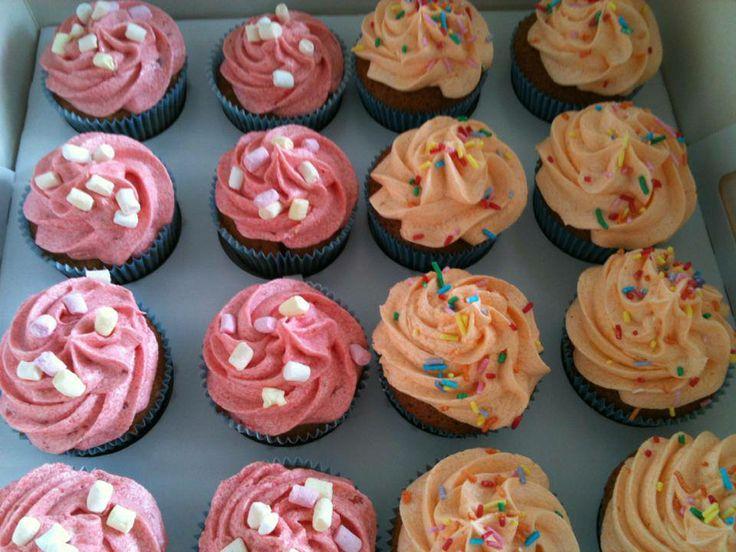 Aardbeien en limonade cupcakes