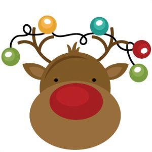 Freebie Of The Day! Reindeer With Lights - freebiereindeerwithlights111513 - Christmas - Miss Kate Cuttables | Product Categories Scrapbooki...