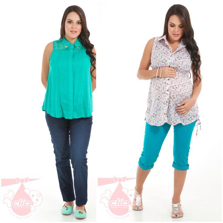 Nuevos diseños de #ropa #materna en www.clioropamaterna.com. #Moda en ropa para embarazadas o ropa #premamá
