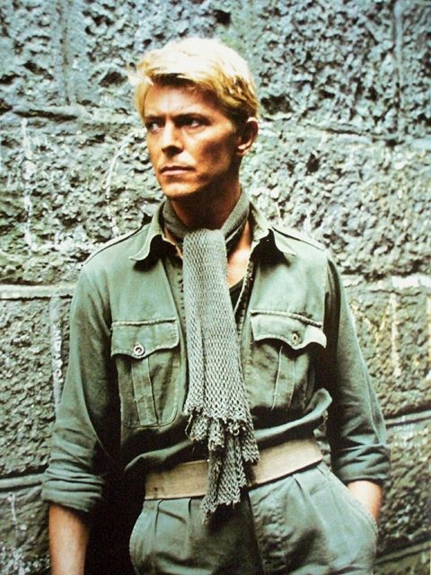 Merry Christmas Mr........Bowie.....during filming, 1982