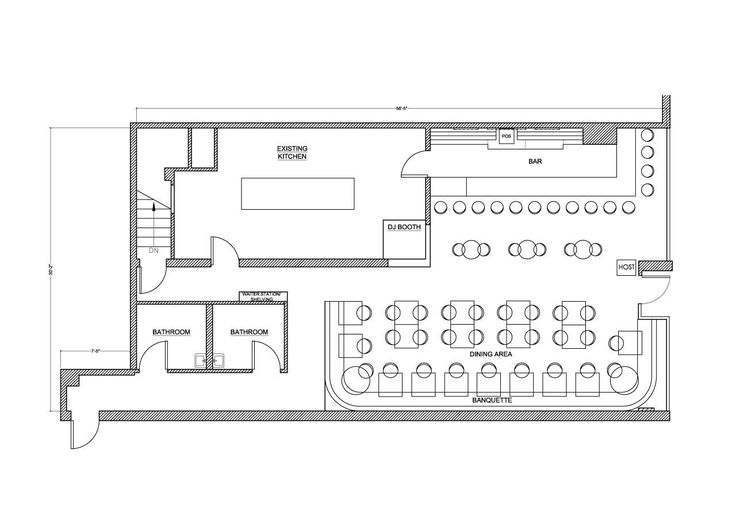 Restaurant Bar Design Plans: Grill And Bar Floor Plans Service Slyfelinos. Simple