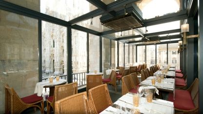 """Where chefs eat: Milan: Ristorante Giacomo ArengarioRecommended by: Luigi TaglientiBest for: breakfast""""Inside the Museo del Novocento (Milan's contemporary art museum), you get a breathtaking view of the Piazza del Duomo. It is excellent for coffee and reading the newspapers."""""""