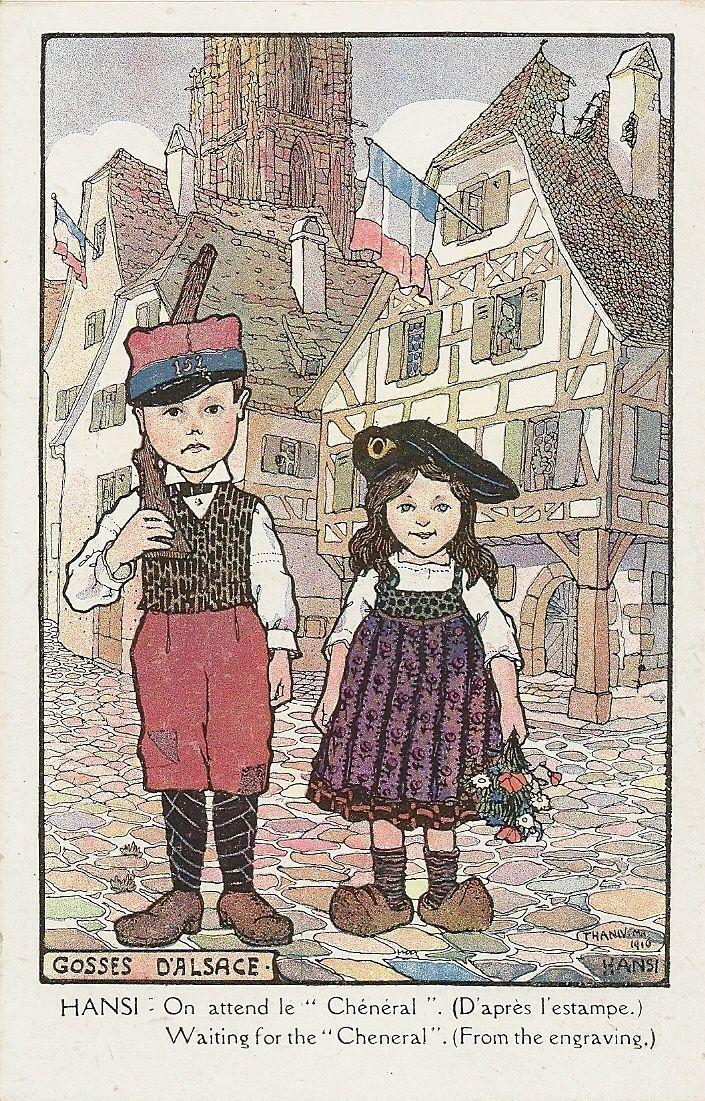 Carte Postale Fantaisie Folklore Costume Gosses D'Alsace Illustrateur Hansi | eBay