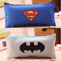 Wish | Cute Batman Superman School Pencil Case Cartoon Hero Pencil Case For Girls  Kawaii Stationery Bag