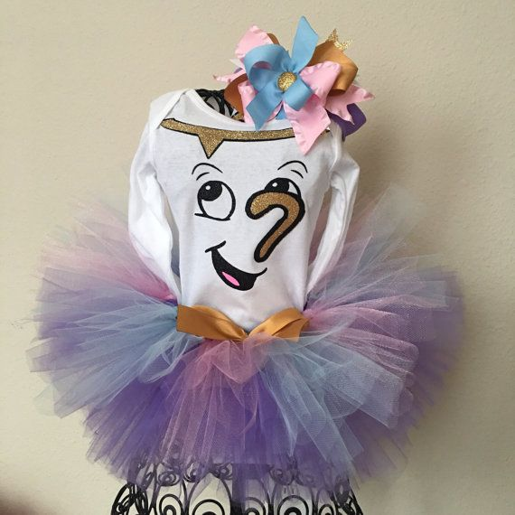 beauty and the beast chip tutu costume by bowdezzledesigns on etsy - Beauty Halloween Costume